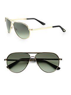 Tom Ford Eyewear Marko Aviator Sunglasses   Gold