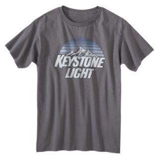 Keystone Light Mens Graphic Tee   Graphite Gray S