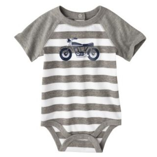 Circo Newborn Boys Motorcycle Bodysuit   Grey Stripe 6 9 M