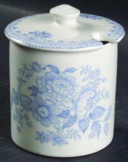 Burgess & Leigh Asiatic Pheasants Blue Jam/Jelly & Lid, Fine China Dinnerware