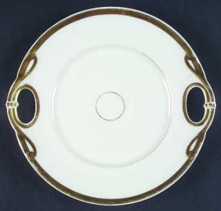 Haviland Wedding Ring Handled Cake Plate, Fine China Dinnerware   H&Co,Smoothgol