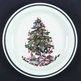 International Noel (Band 1/4 From Edge) Dinner Plate, Fine China Dinnerware   G