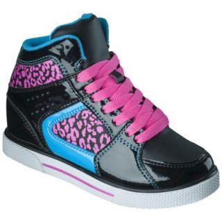Girls Xhilaration Greta High Top Sneaker Wedge   Black 13
