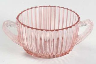 Anchor Hocking Queen Mary Pink Open Sugar   Pink, Depression Glass
