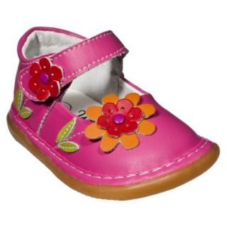 Little Girls Wee Squeak Daisy Mary Jane   Hot Pink 10
