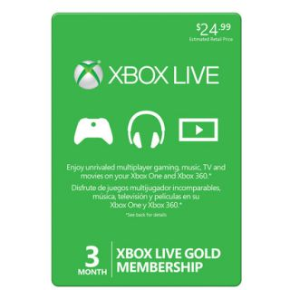 Xbox Live 3 Month Gold Subscription