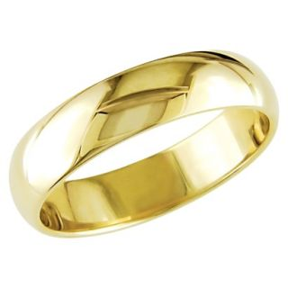 Mens 10K Yellow Gold Wedding Band   Size 11