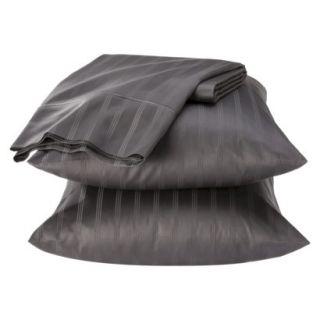 Fieldcrest Luxury 500 Thread Count Stripe Sheet Set   Molten Lead (California