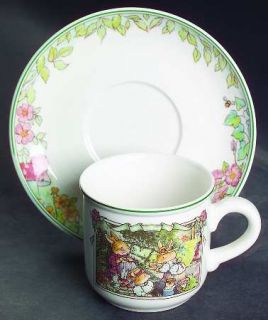 Villeroy & Boch Foxwood Tales Flat Cup & Saucer Set, Fine China Dinnerware   Bou