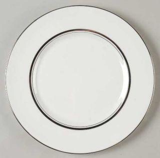 Fukagawa Wedding Band Salad Plate, Fine China Dinnerware   Platinum Bands & Trim