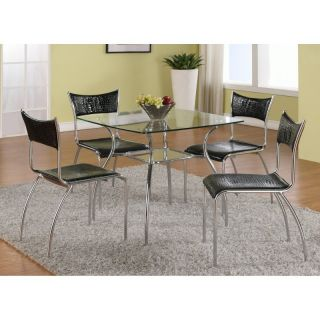 Chintaly Daisy 5 Piece Dining Table Set Multicolor   CTY1225
