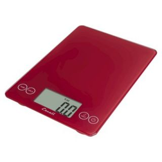 Escali Arti Digital Scale   Red