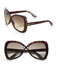 Tom Ford Eyewear Jade Oversized Square Sunglasses   Havana