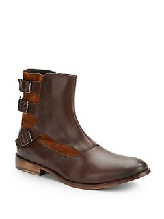 Remy Leather Moto Boots