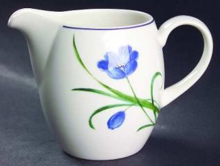 Mikasa Garden Poetry Creamer, Fine China Dinnerware   Casual Classics,Blue Flowe