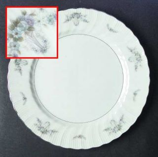 Arlen Deauville Dinner Plate, Fine China Dinnerware   Blue&Lavender Flowers,Swag