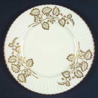Lenox China Lyric Salad Plate, Fine China Dinnerware   Temple, Gold Leaves & Ber