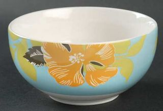 222 Fifth (PTS) Maya Soup/Cereal Bowl, Fine China Dinnerware   Blue Or Taupe Rim