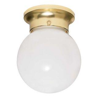 Nuvo Energy Saver 1 light Polished Brass Flush Mount Fixture