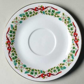Domestications Twelve Days Of Christmas Saucer, Fine China Dinnerware   Bows & H