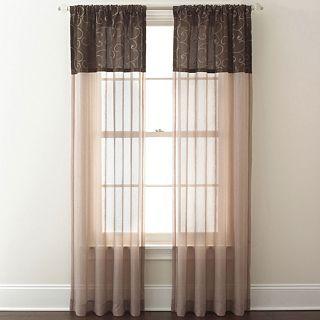Westgate Rod Pocket Curtain Panel, Chocolate (Brown)