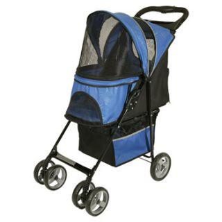Cruiser Pet Stroller in Blue, 36 L X 18 W X 40 H