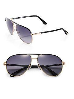 Tom Ford Eyewear Cole Aviator Sunglasses   Black