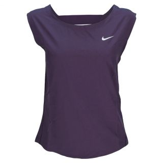 Nike Women`s Dri Fit Woven Tennis Tank Small 506_Purple