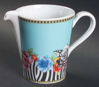 Rosenthal   Continental Hot Flowers Creamer, Fine China Dinnerware   Versace, Fl