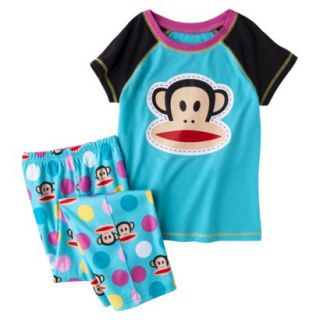 Paul Frank 2 Piece Short Sleeve Pajama Set   Blue L