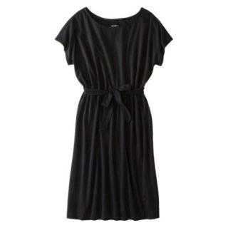 Merona Womens Knit Belted Dress   Black   XL