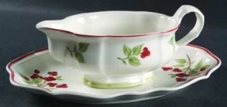 Villeroy & Boch Joy Noel Gravy Boat & Underplate (Relish), Fine China Dinnerware