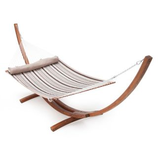 TwoTree Hammocks Hammock with Stand: Island Bay Dura Weave Quilted Hammock