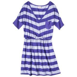 Mossimo Supply Co. Juniors V Neck Elbow Sleeve Dress   Blue Magic XXL(19)