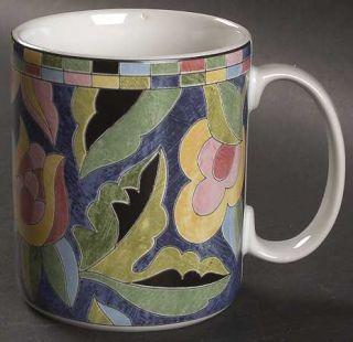 Interiors (PTS) Fantasia Mug, Fine China Dinnerware   Stoneware,Multicolor Flora