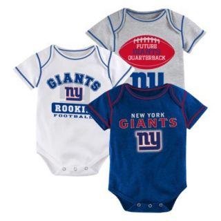 NFL Boys 3 Pack Onesie Giants 12 M