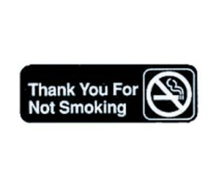 Tablecraft 3 x 9 in Sign, Thank You For Not Smoking, Adhesive Back