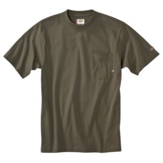 Dickies Mens Short Sleeve Pocket T Shirt with Wicking   Moss Green XL