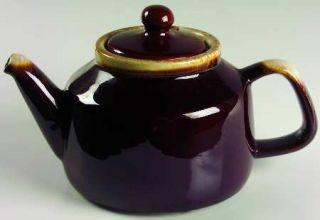 Nelson McCoy Brown Drip Teapot & Lid, Fine China Dinnerware   Dark Brown Drip De