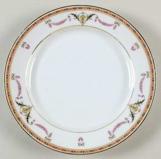 Heinrich   H&C St Germaine Salad Plate, Fine China Dinnerware   Swags With Pink