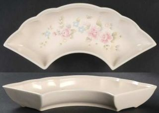 Pfaltzgraff Tea Rose Lazy Susan Side Dish, Fine China Dinnerware   Stoneware,Pin