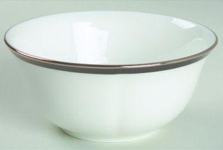 Lenox China Leigh Fruit/Dessert (Sauce) Bowl, Fine China Dinnerware   Black Band