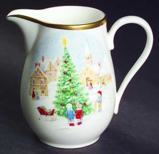 Mikasa Merry Christmas Creamer, Fine China Dinnerware   Bone,Christmas Village A