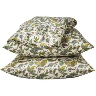 Threshold 325 Thread Count Organic Cotton Sheet Set   Green Botanical (Full)