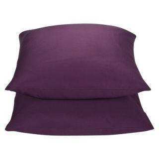 Threshold 325 Thread Count Organic Cotton Pillowcase Set   Purple (King)