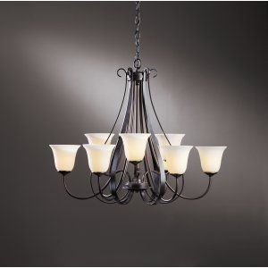 Hubbardton Forge HUB 101459 07 G71 Sweeping Taper Chandelier 9 Arm Sweep Taper