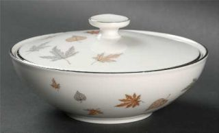 Heinrich   H&C Allure Sugar Bowl & Lid, Fine China Dinnerware   Scattered Fall L