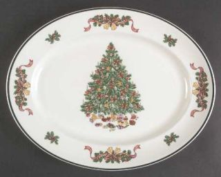 Johnson Brothers Victorian Christmas (Made In England) 13 Oval Serving Platte
