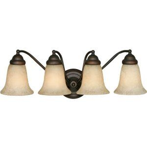 Golden Lighting GOL 5222 4 RBZ TEA Centennial 4 Light Vanity
