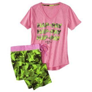 Duck Dynasty Juniors 2 Pc Pajama Set   Pink Print XL